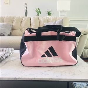 adidas Bags - Baby Pink and White Adidas Duffle Bag